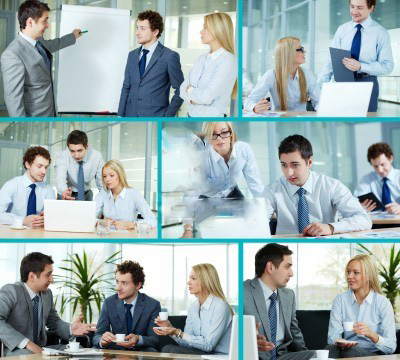 15436612-collage-composed-of-images-of-business-companions-working-in-team